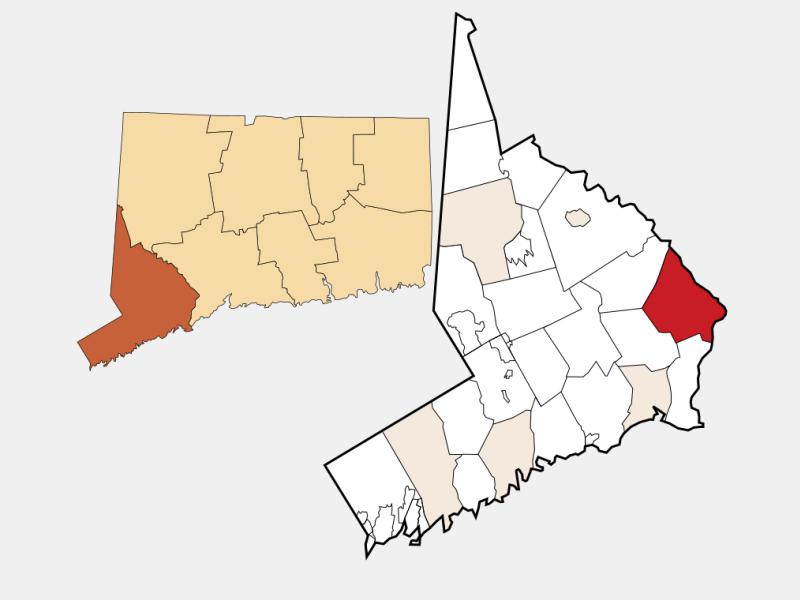 Shelton locator map