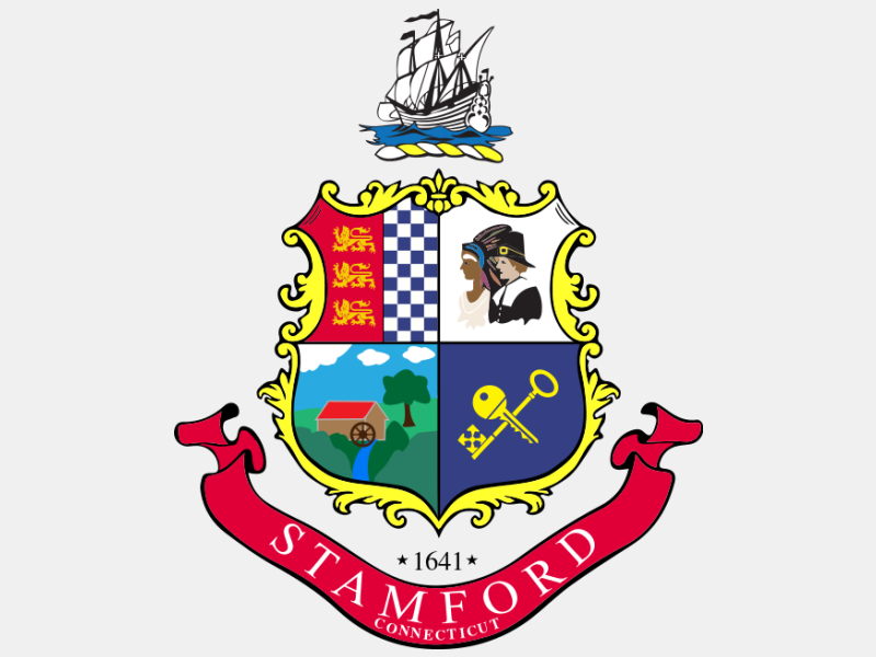 Seal of Stamford  Connecticut coat of arms image