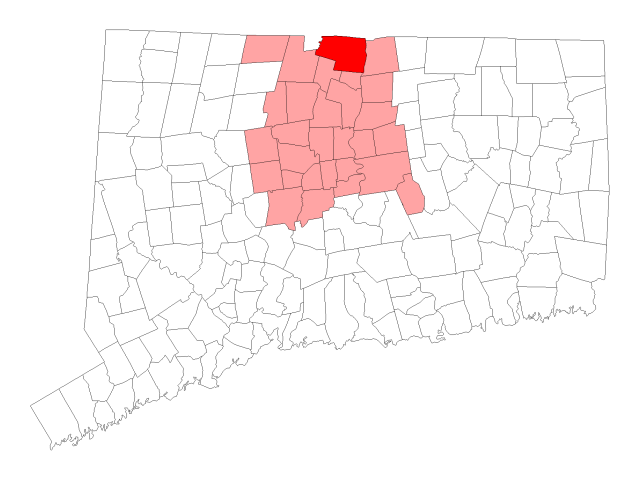 Suffield location map