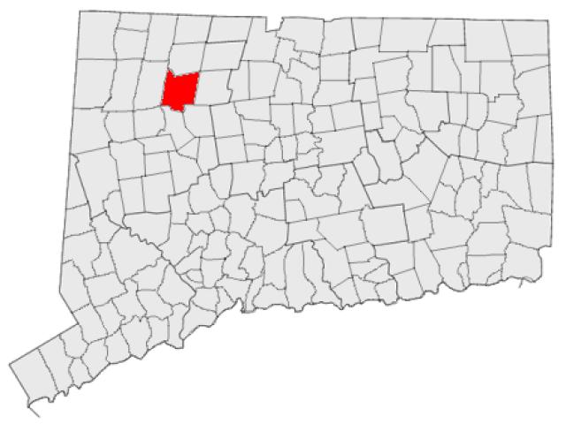 Torrington locator map
