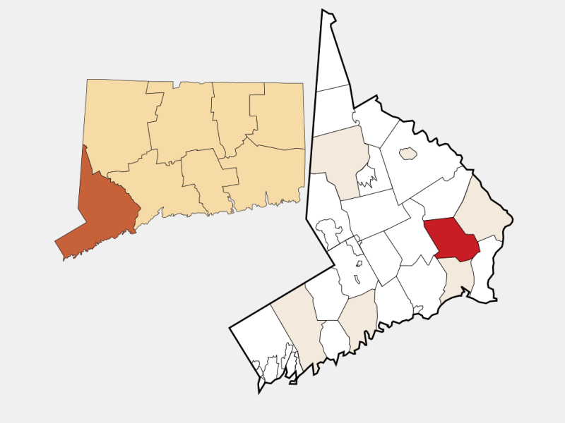 Trumbull locator map