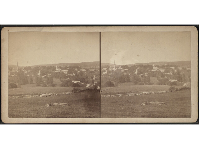 View of Watertown  Conn  from Robert N. Dennis collection of stereoscopic views image