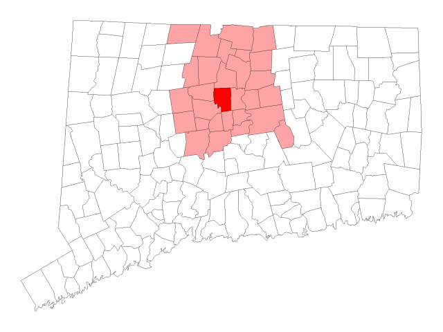 West Hartford locator map