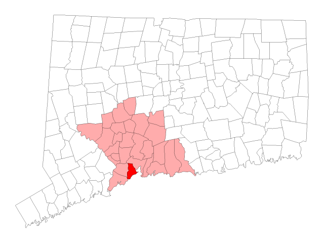 West Haven locator map