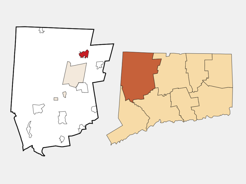 Winsted locator map