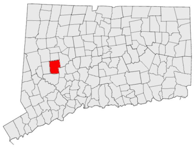 Woodbury locator map