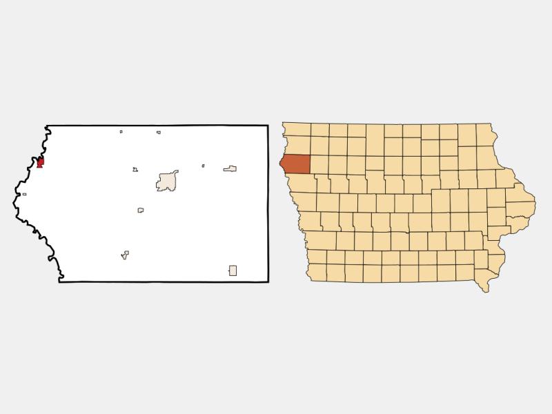 Akron locator map