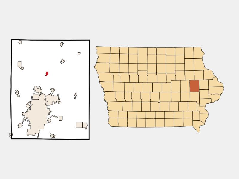 Alburnett locator map