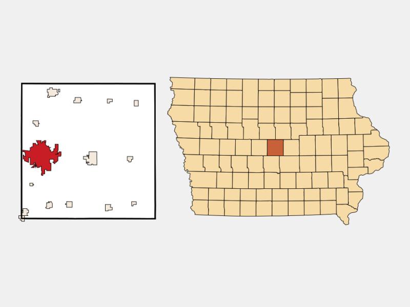 Ames locator map