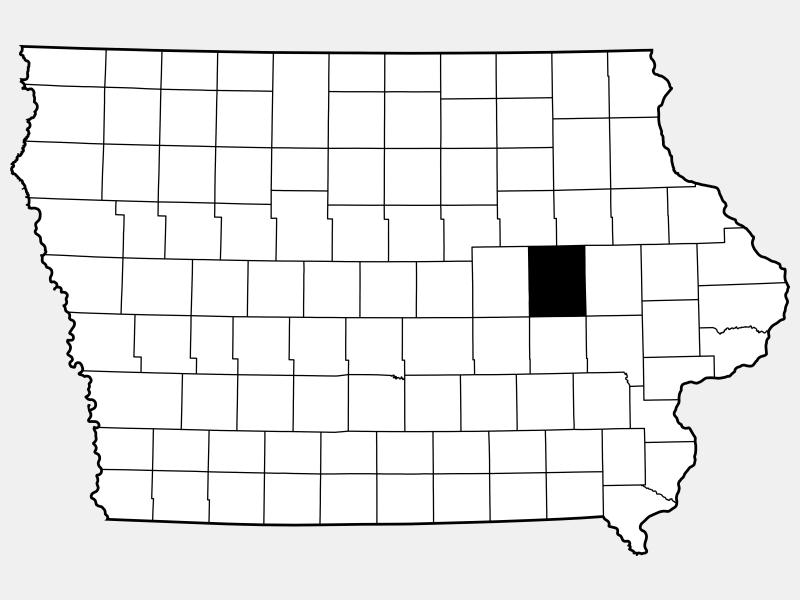 Benton County locator map