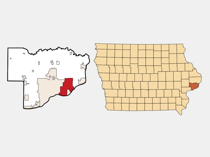 Bettendorf locator map