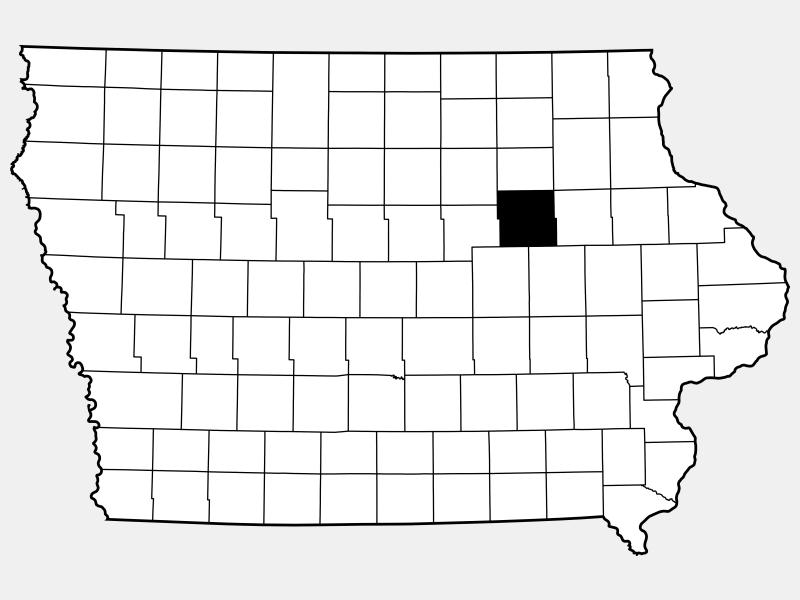 Black Hawk County locator map