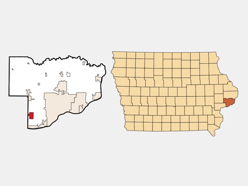 Blue Grass location map