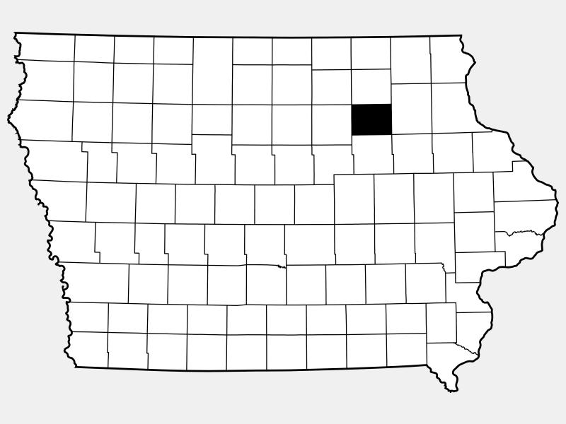 Bremer County locator map