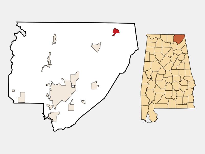 Bridgeport locator map