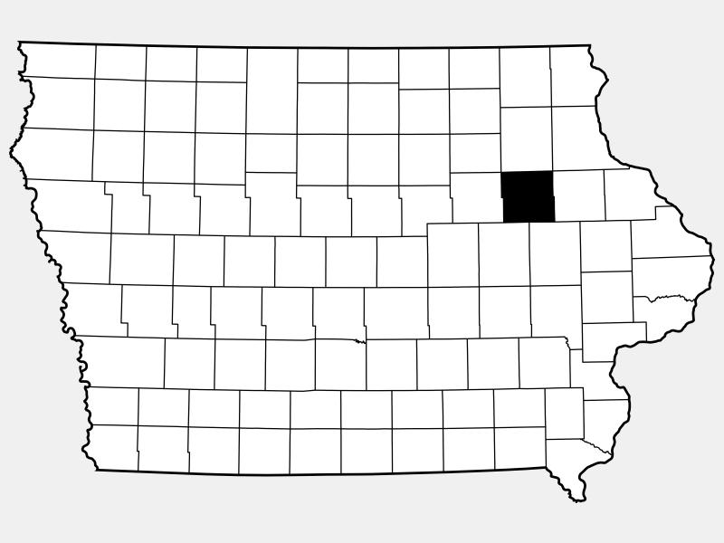 Buchanan County locator map