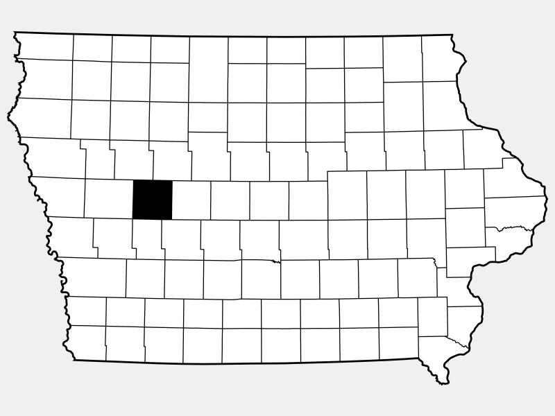Carroll County locator map