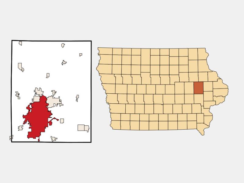 Cedar Rapids locator map