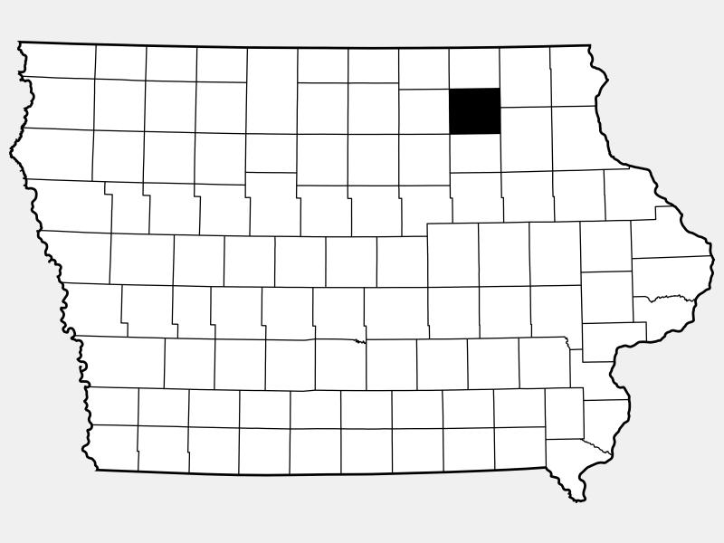 Chickasaw County locator map