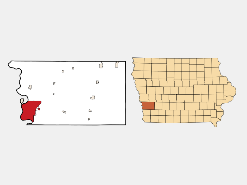 Council Bluffs locator map