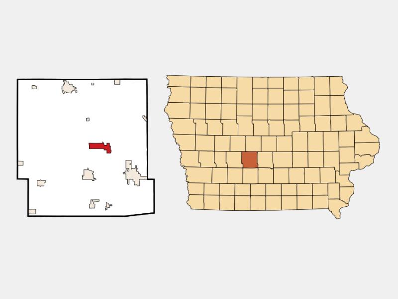 Dallas Center location map