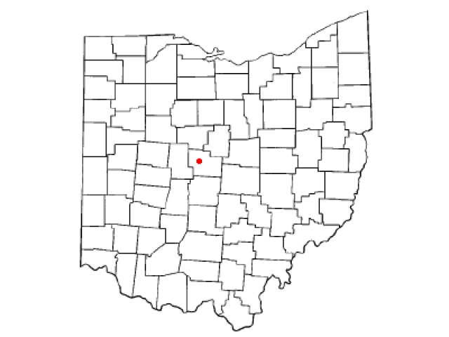 Delaware locator map