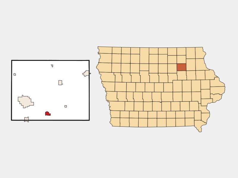 Denver locator map