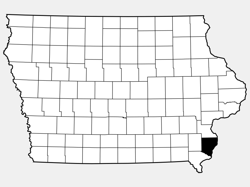 Des Moines County locator map
