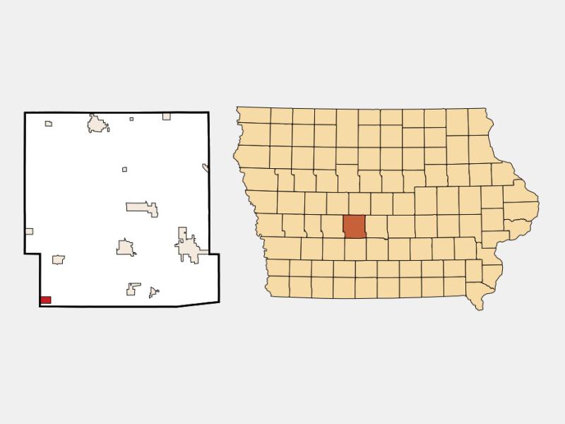 Dexter location map
