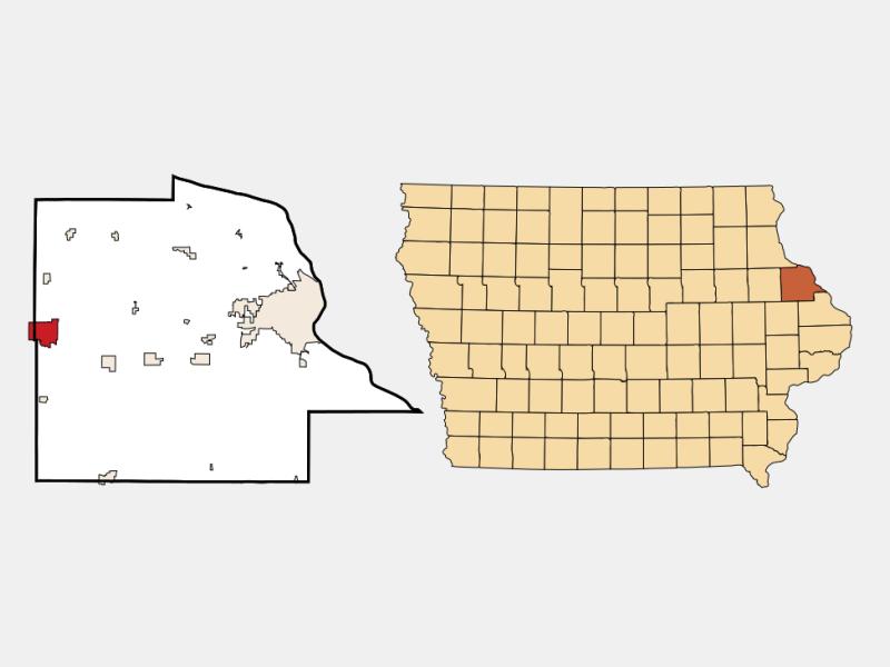 Dyersville locator map