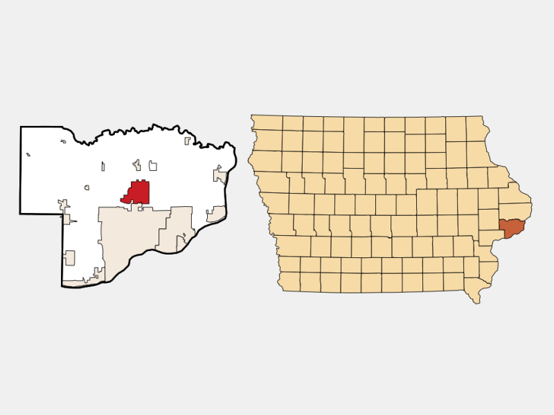 Eldridge locator map