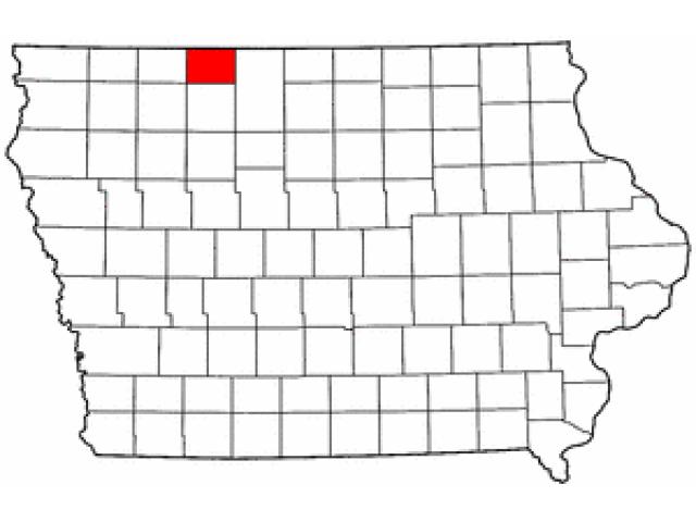Emmet County locator map