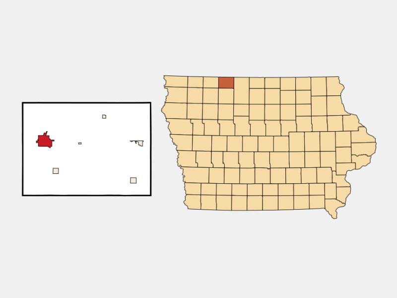 Estherville locator map