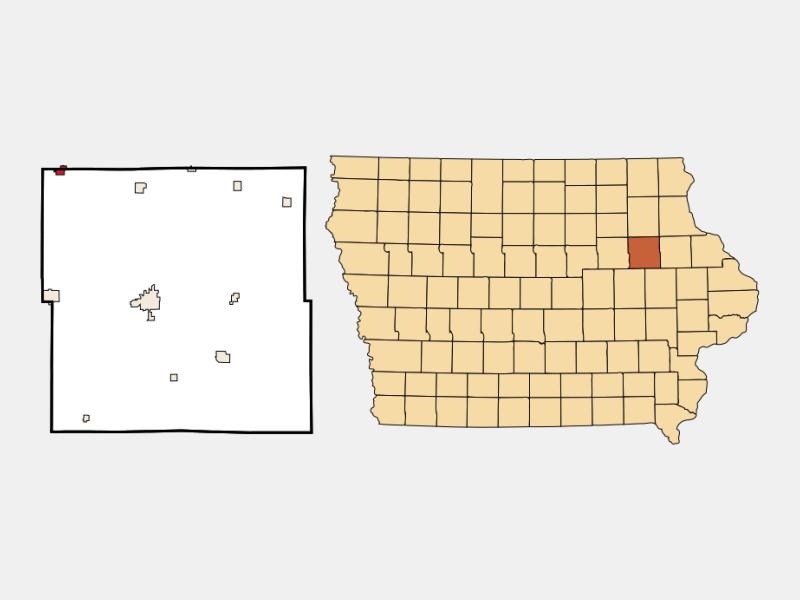 Fairbank locator map