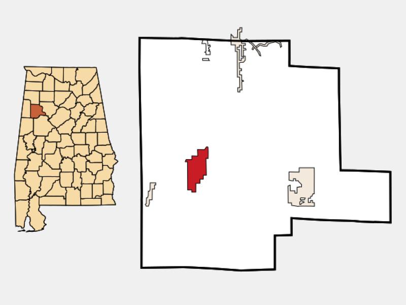 Fayette locator map