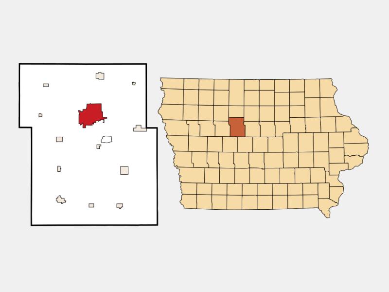 Fort Dodge locator map
