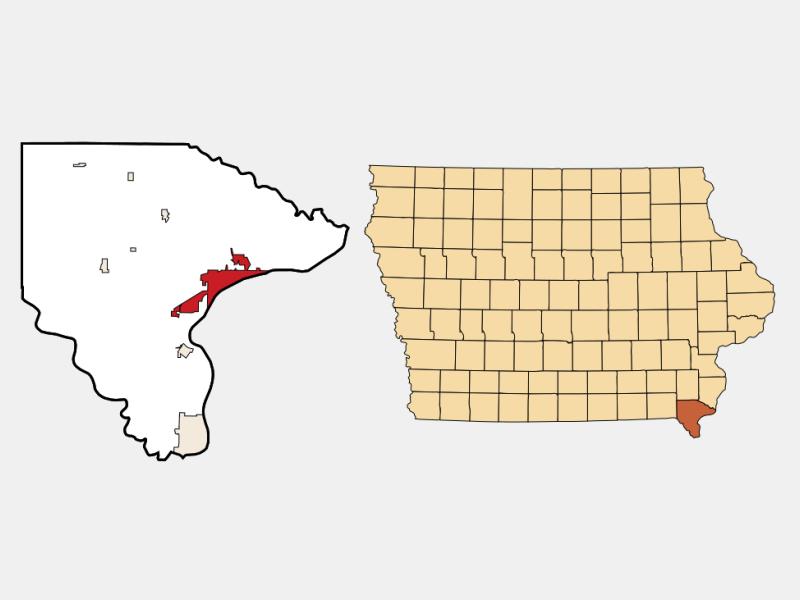 Fort Madison locator map