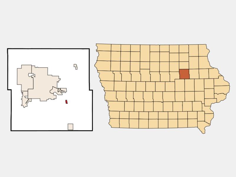 Gilbertville locator map