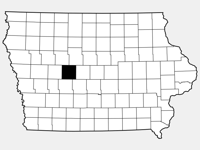 Greene County locator map