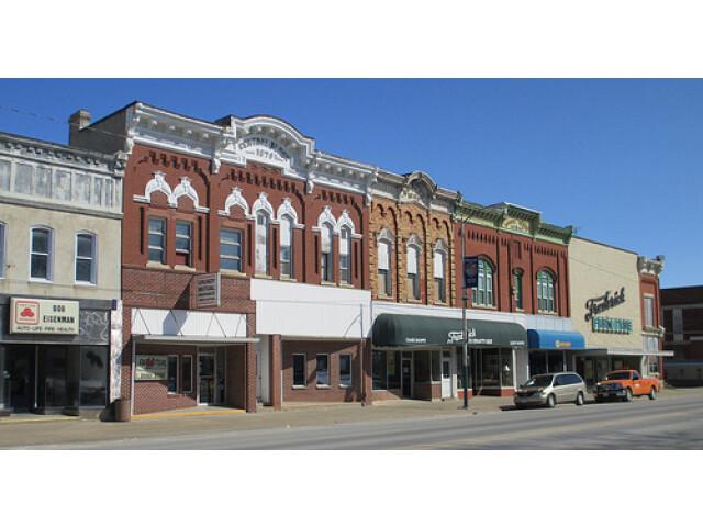 Downtown  Grundy Center  Iowa. image