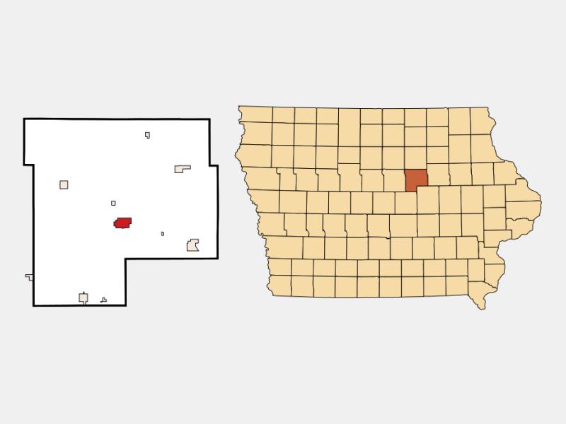 Grundy Center locator map