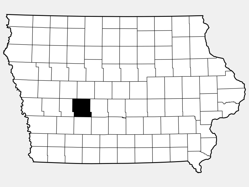 Guthrie County locator map