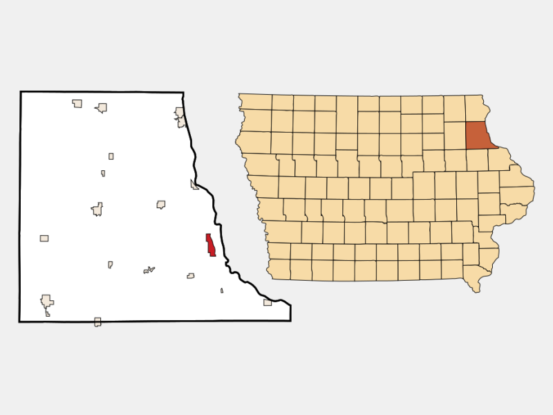 Guttenberg locator map