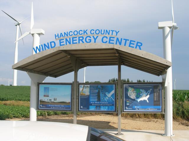 Hancock County Wind Energy Center visitor kiosk 3059998289 e60b6b5a09 o image
