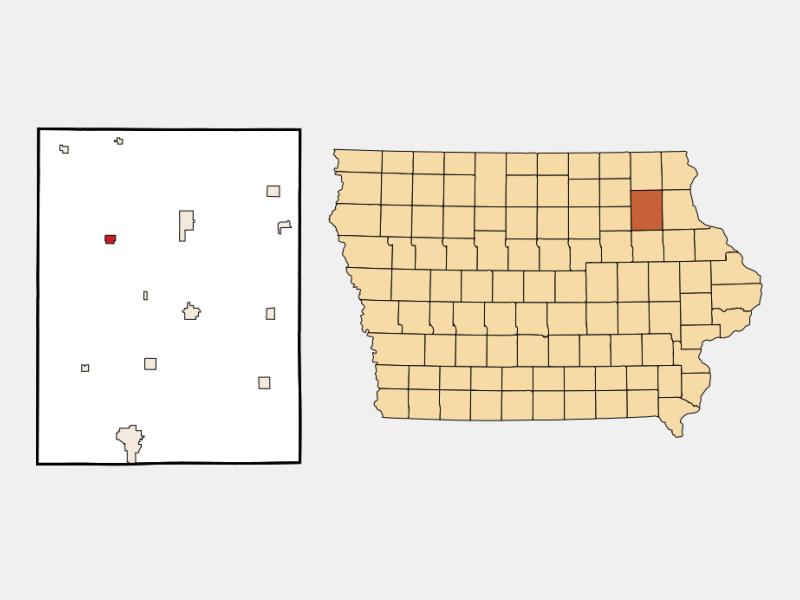 Hawkeye locator map