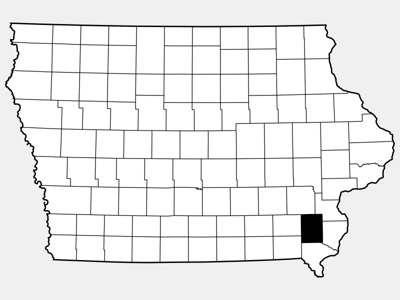 Henry County locator map