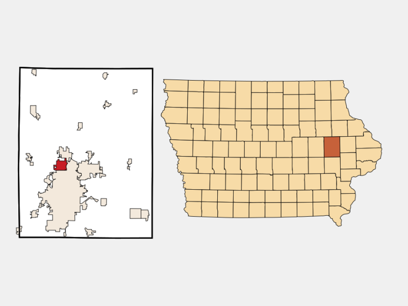 Hiawatha locator map