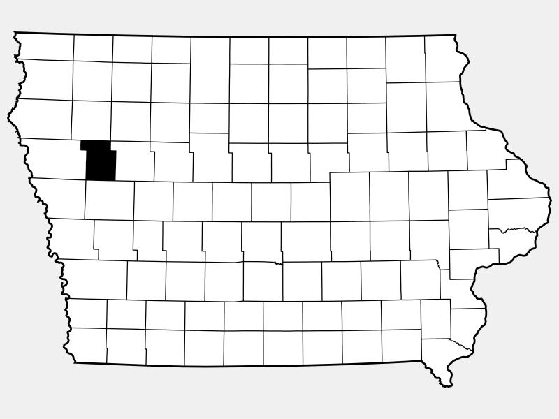 Ida County, IA locator map
