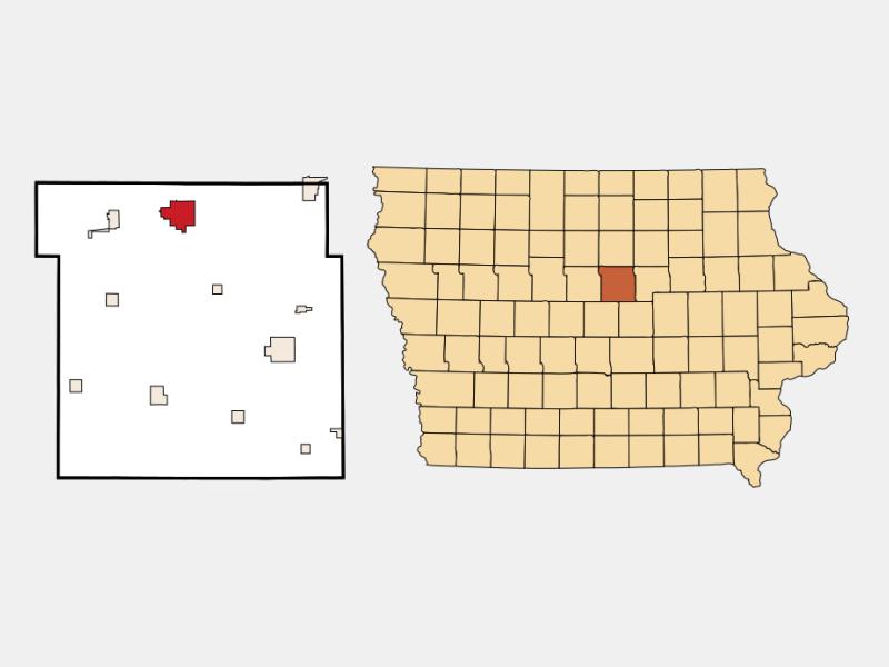 Iowa Falls locator map
