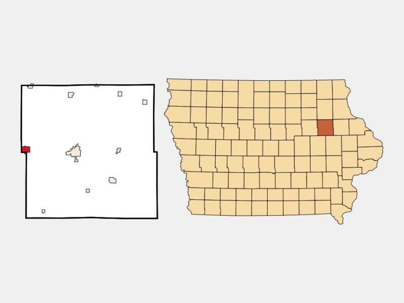 Jesup locator map